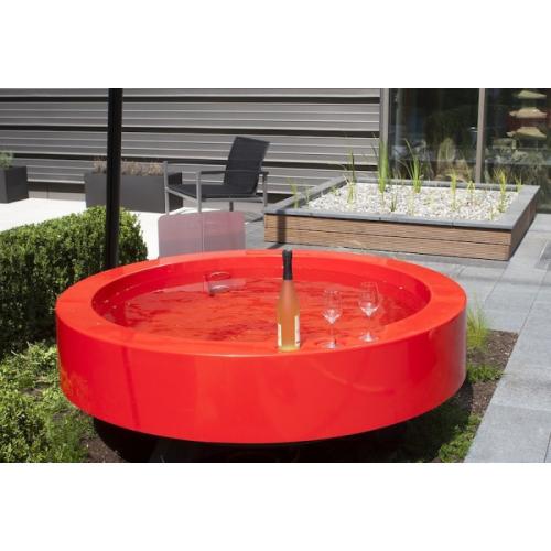Hot tub 2 0 outdoor badewanne orange von ideal eichenwald - Badewanne im garten ...