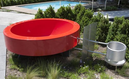 Hot tub 2 0 outdoor badewanne orange von ideal eichenwald - Badewanne outdoor garten ...