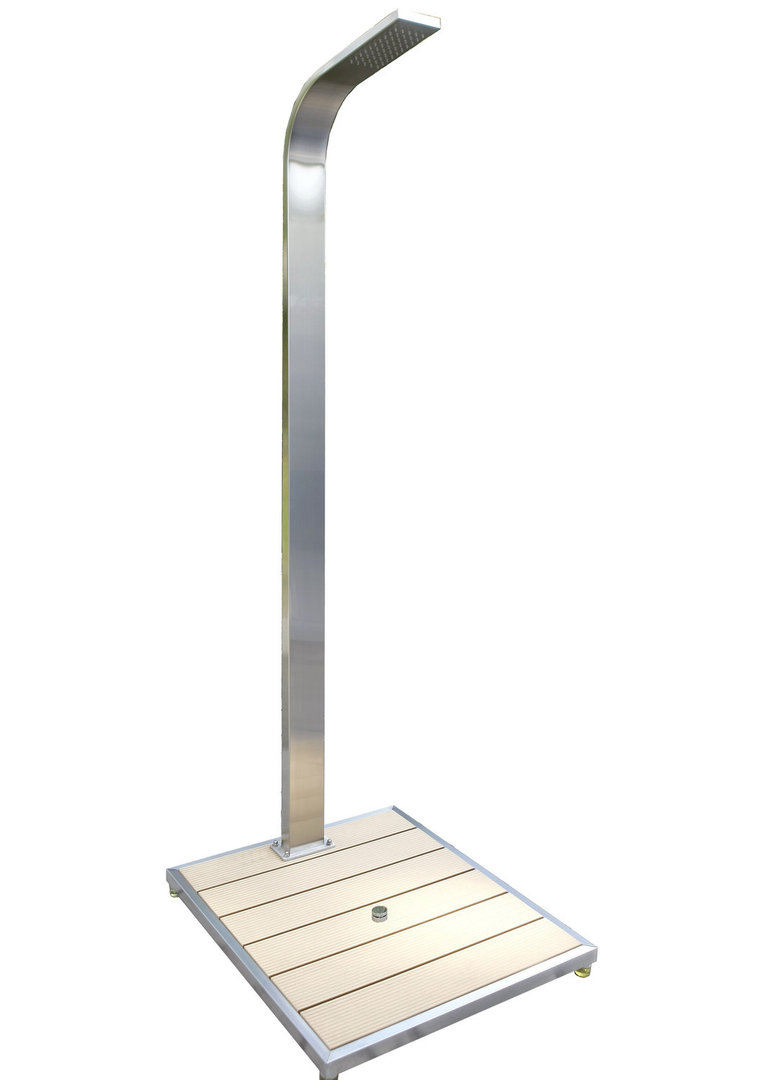 Gartendusche ibiza bodenplatte wpc von ideal eichenwald for Gartendusche bodenplatte